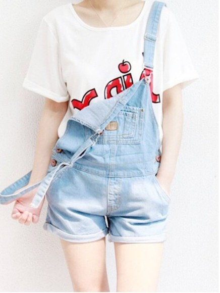 denim overalls dungarees lightwash