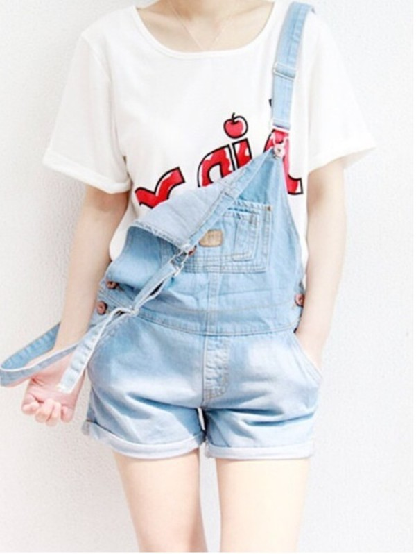 overalls denim acid wash dungarees