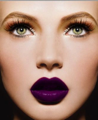 nail polish purple lipstick purple hair/makeup inspo make-up