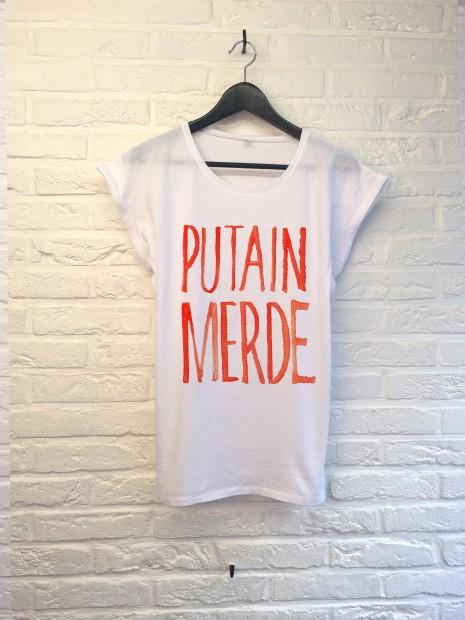 T Shirt Th Gallery Putain Merde Femme - Atelier Amelot
