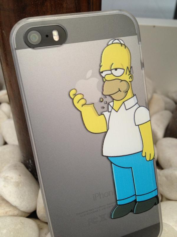 big sale 0cbf5 85ac4 Case Cover Transparent Homer Simpson Eat Apple for iPhone 5S 5c 5 4S 4  Screen | eBay