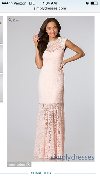 morgan and company peach dress long dress