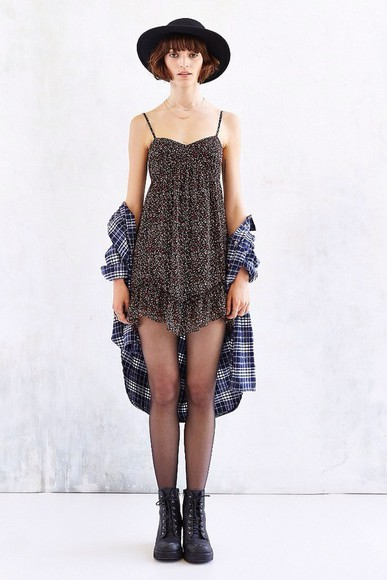 urban outfitters indie short nyc flannel alternative