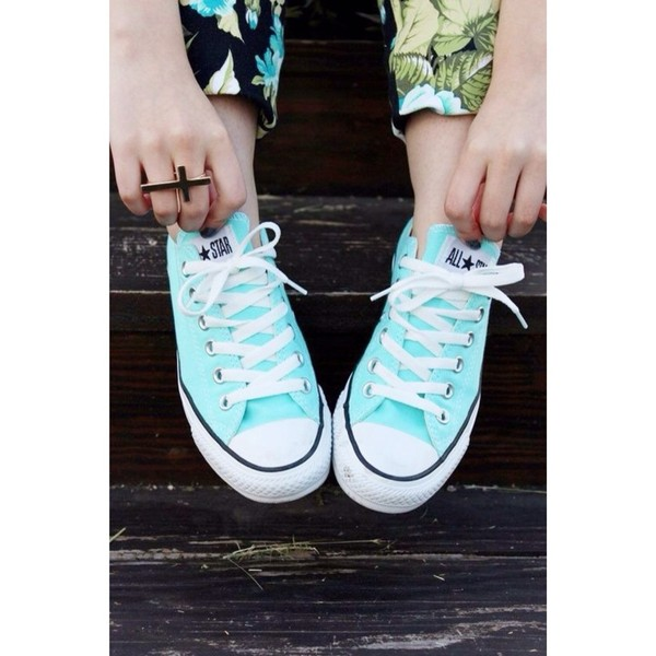 shoes converse tiffany's blue mint teal tiffany blue pretty no one will have them mintcolor jeans
