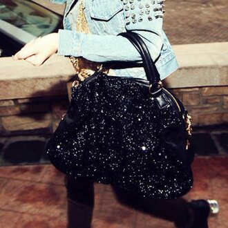 bag glitter fashion style purse stylish women's tote with solid color sequins zipper design hot trendy cool rose wholesale-dec