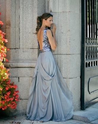 dress purple sequins prom formal