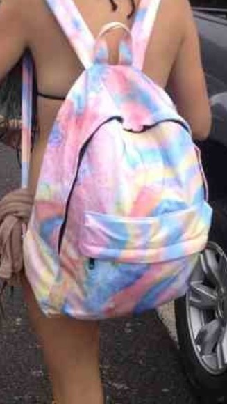 bag backpack colours tiedye