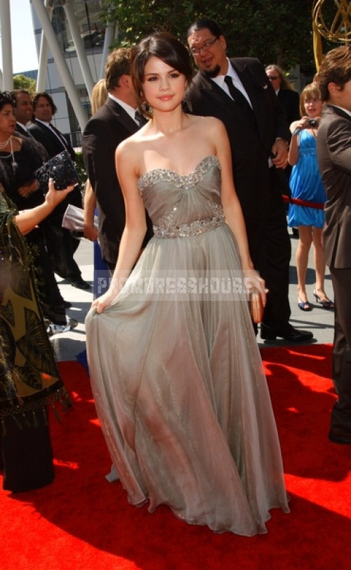 Chiffon Sweetheart Appliqued Glamorous Gray Pleated Floor Length Celebrity Dress - Promdresshouse.com