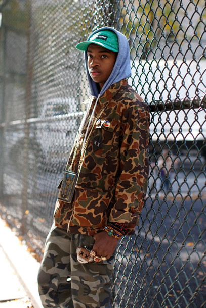 jacket lafayette african american camouflage hip-hop pants america new york city
