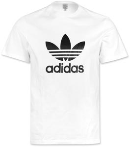 Adidas Trefoil T-shirt white black