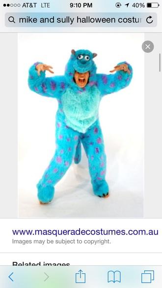pajamas blue with purple polka dots.  fluffy