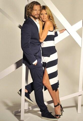 heidi klum sandals striped dress dress