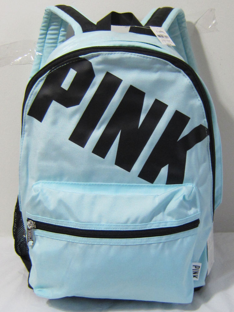 Rare Victoria Secret Pink Campus Mint Mermaid Teal Carry