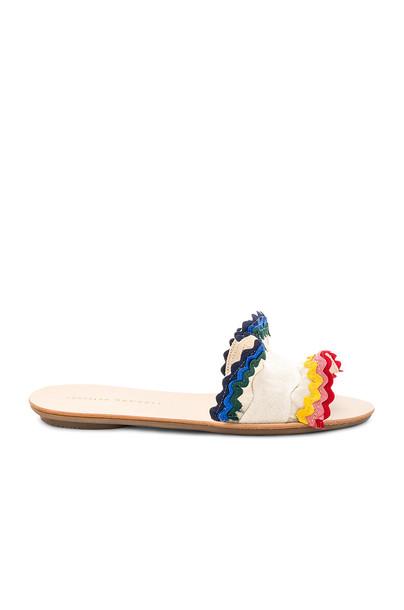 Loeffler Randall ruffle cream shoes