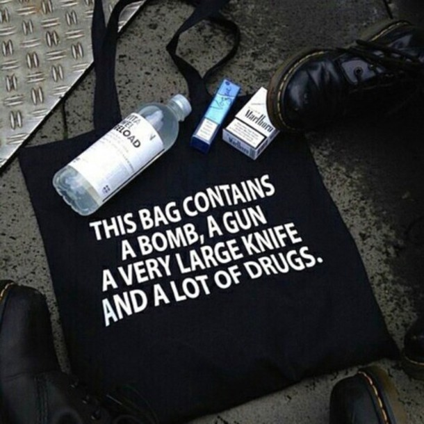 bag quote on it grunge