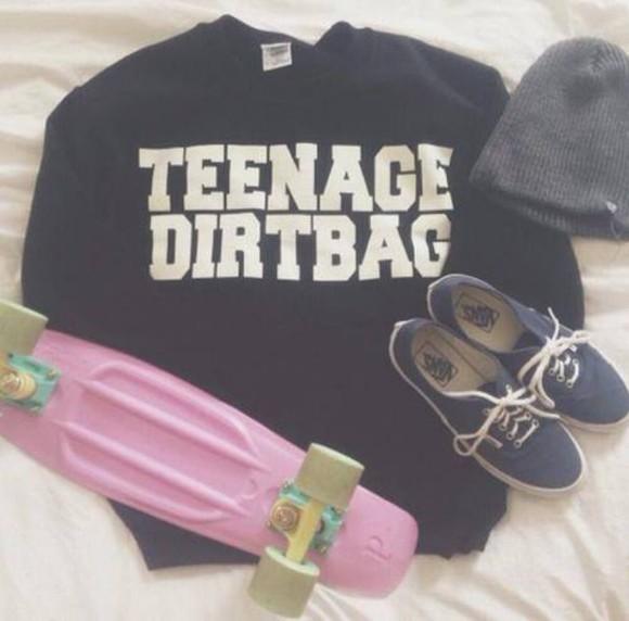 sweater black sweater streetwear skateboard skater vans beanie