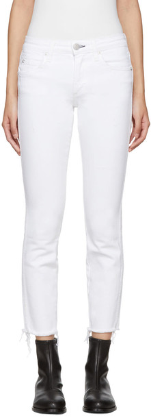 amo jeans white
