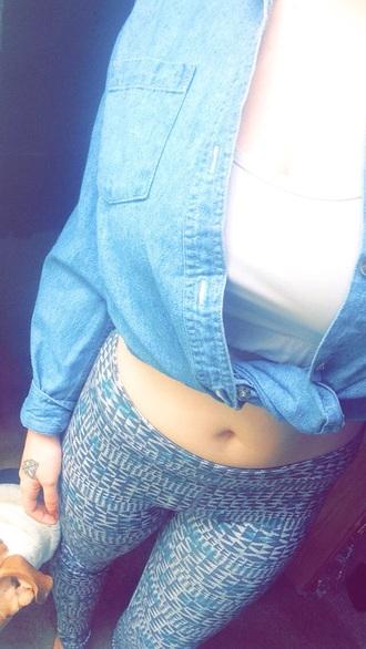jacket leggings workout leggings geometric