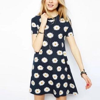 dress dress-shirt daisy bluse longshirt t-shirt dress