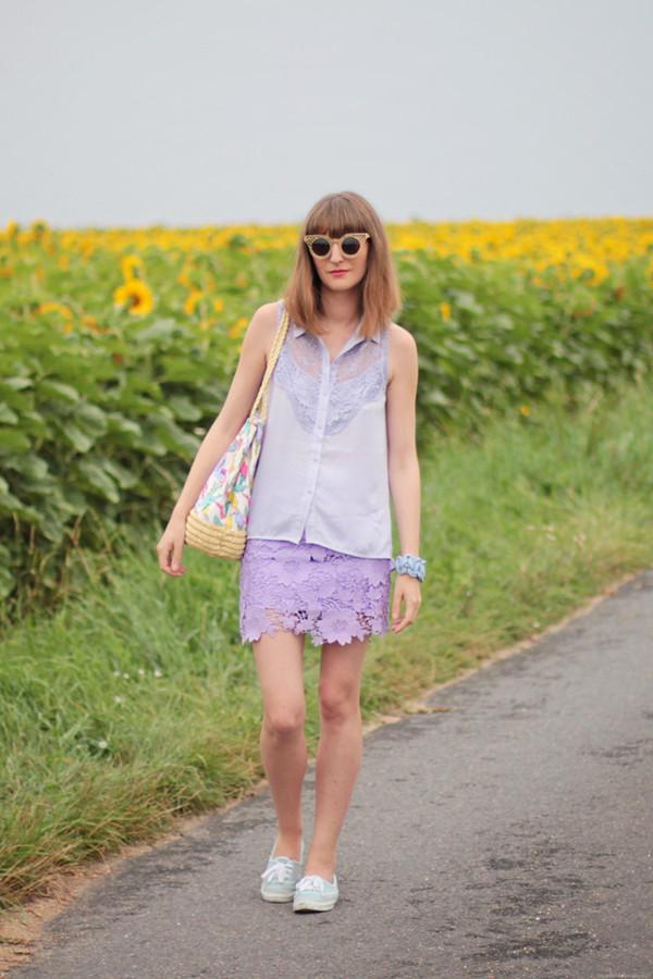 summer crush blogger sunglasses skirt bag shoes jewels shirt