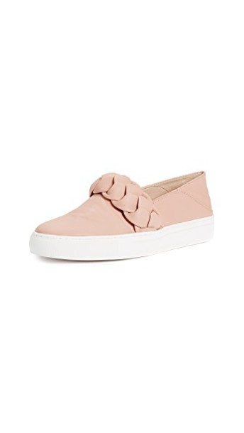 Rachel Zoe braid sneakers blush shoes