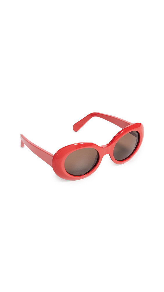 Acne Studios Mustang Sunglasses in brown / red