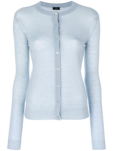 Joseph - cashmere cardigan - women - Cashmere - M, Blue, Cashmere