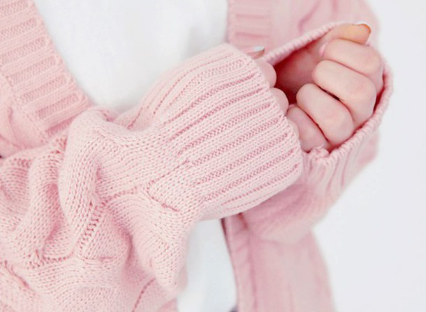 Sweater: pale pink cardigan, cozy, oversized cardigan - Wheretoget