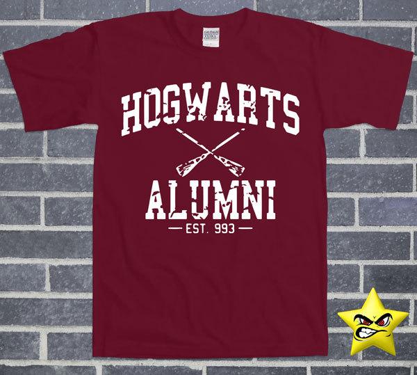 Hogwarts Alumni T-Shirt College Humour Nerd Geek Movie Book ... ad0bf0823