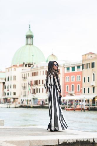 wendy's lookbook blogger long dress fall dress striped dress