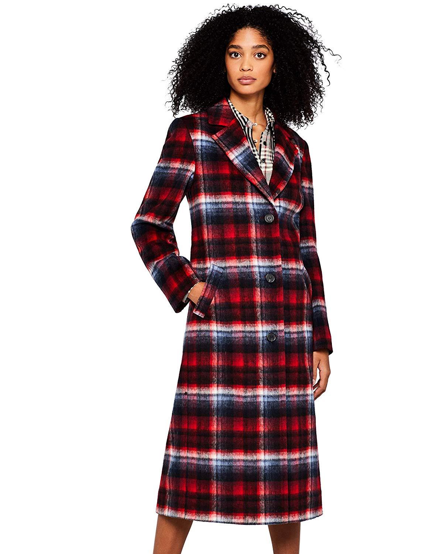 find. Women's Tartan City Coat Coat: Amazon.co.uk: Clothing