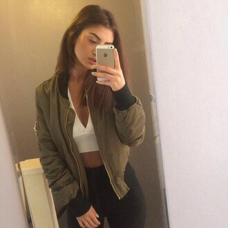 jacket kaki style clothes
