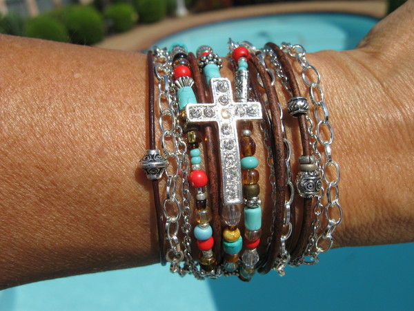 jewels boho cross bracelet endless leather bracelet