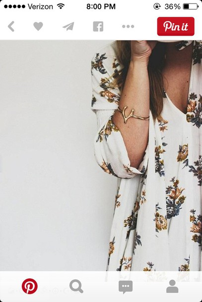 blouse floral dress