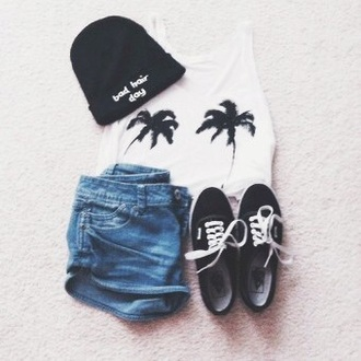 hat bad hair day hat black hat tumblr outfit tumblr fashion shirt