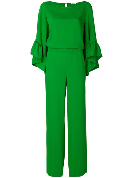 P.A.R.O.S.H. flute sleeve jumpsuit - Green