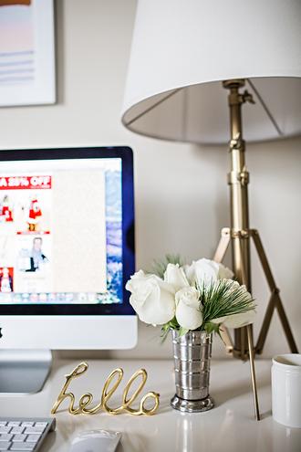 home accessory lamp metallic gold metallic home decor desk vase metallic lamp