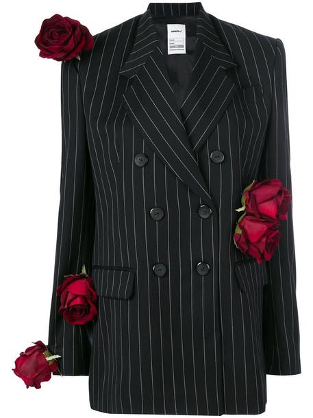 Seen blazer rose women black silk wool jacket
