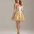 Gold Glitter & Sequin Strapless Starlet Homecoming Dress - Unique Vintage - Prom dresses, retro dresses, retro swimsuits.