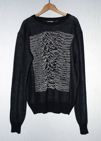 sweater black shirt joy division