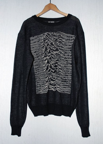 joy division sweater black shirt