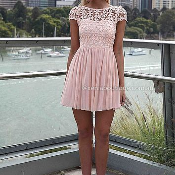 PRE ORDER - SPLENDED ANGEL DRESS (Expected Delivery 9th April, 2014) , DRESSES, TOPS, BOTTOMS, JACKETS & JUMPERS, ACCESSORIES, 50% OFF SALE, PRE ORDER, NEW ARRIVALS, PLAYSUIT, COLOUR, GIFT VOUCHER,,Pink,LACE,SHORT SLEEVE,MINI Australia, Queensland, Brisban on Wanelo