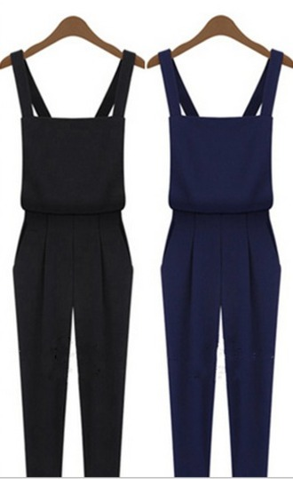 jumpsuit romper playsuit navy kyliejenner dungarees jumper