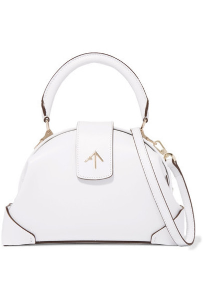 manu atelier bag shoulder bag leather white