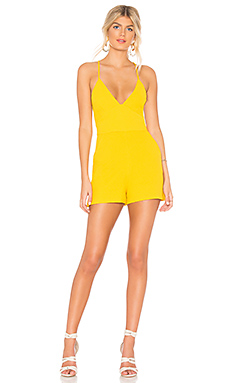 BCBGeneration Halter Romper in Honeygold from Revolve.com