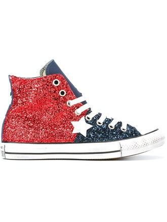glitter women sneakers cotton red shoes