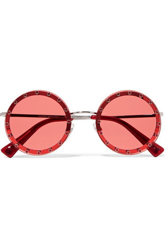 embellished sunglasses red