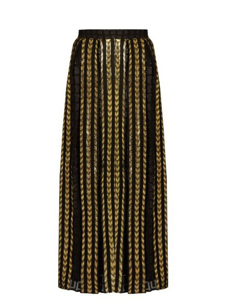 DODO BAR OR Brenda fil coupé maxi skirt in black / gold - Wheretoget