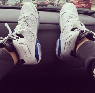 shoes jordan's blue white women jordans air jordans hare 7's
