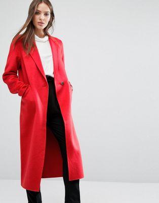 Строгое пальто Selected at asos.com